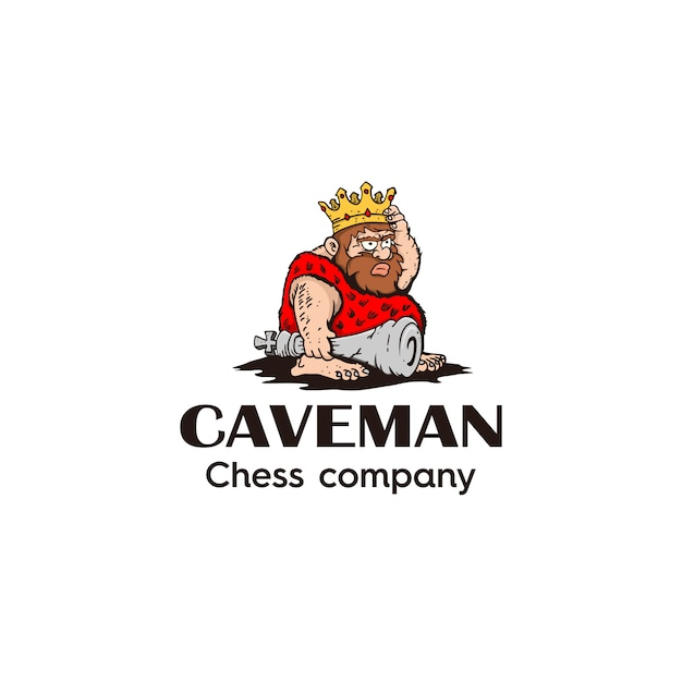 King caveman Premium Vector