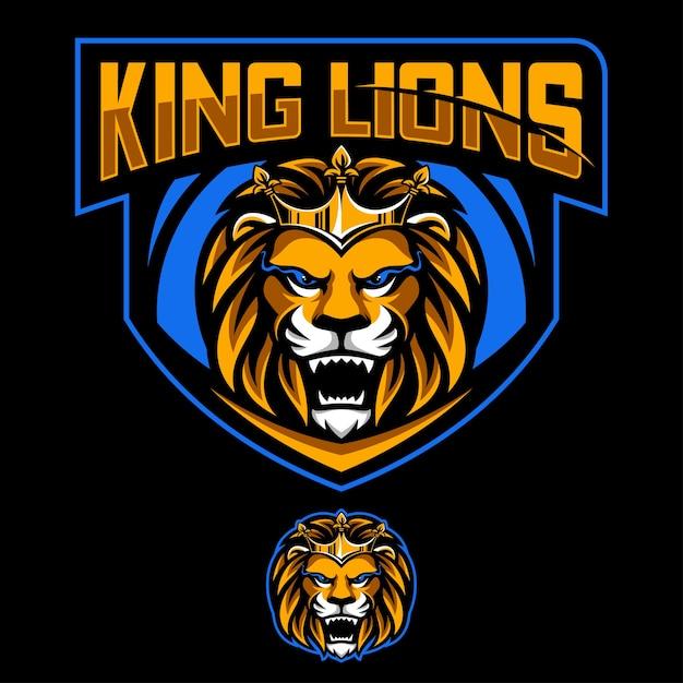 King lions Premium Vector