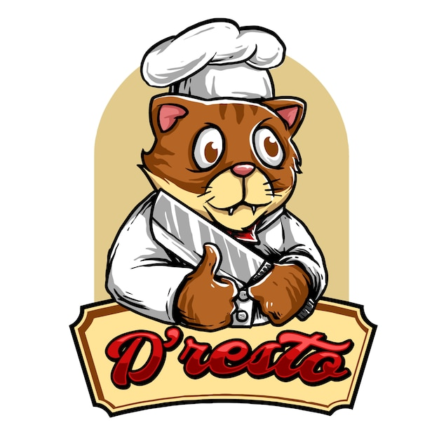 Kitty chef Premium Vector
