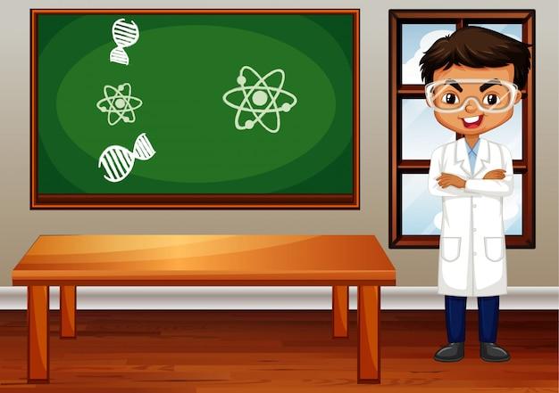 Klas scène met leraar in de kamer Gratis Vector