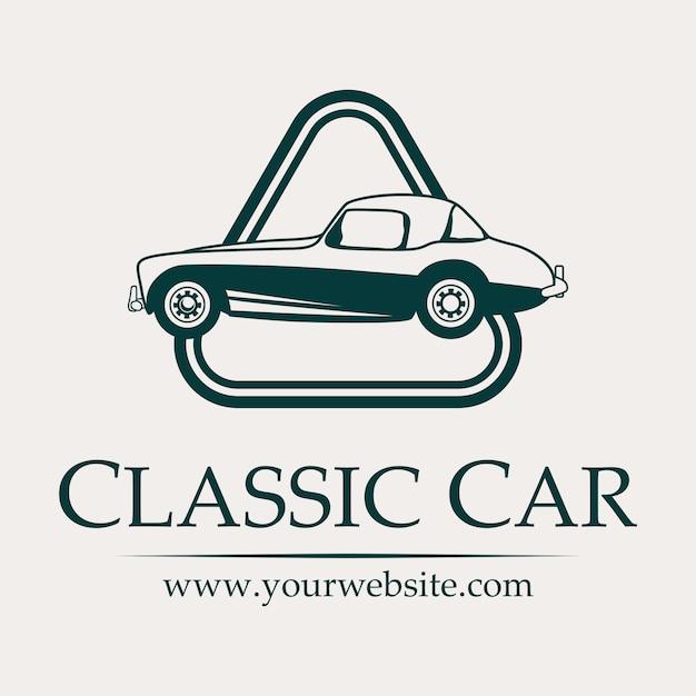 Klassiek Auto Logo Met Afgeronde Driehoek Vector Premium Download