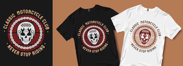Klassiek motorclub t-shirtontwerp Premium Vector