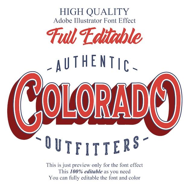 Klassiek plat bewerkbaar typografie lettertype-effect Premium Vector