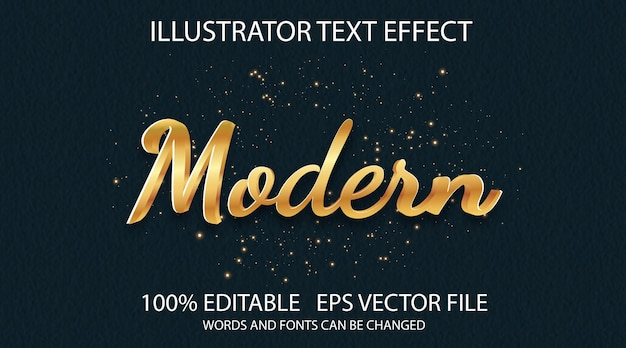 Klassiek tekststijleffect gouden moderne werkstijl Premium Vector