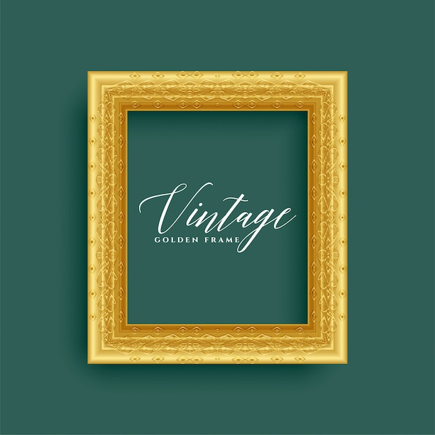 Klassiek vintage koninklijk gouden frame Gratis Vector