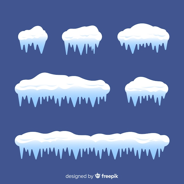 Klassieke collectie sneeuwmutsen Gratis Vector