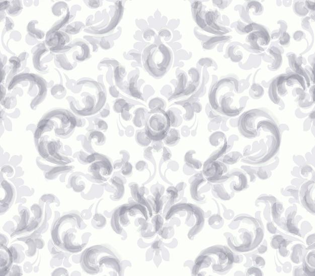 Klassieke elegante sieraadpatroon aquarel. beige delicate kleurstructuren Premium Vector