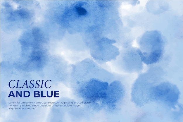 Klassieke en blauwe achtergrond met vlekken en druppels Gratis Vector