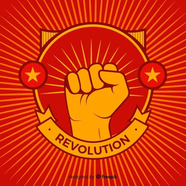 Klassieke revolutiesamenstelling met uitstekende stijl Gratis Vector
