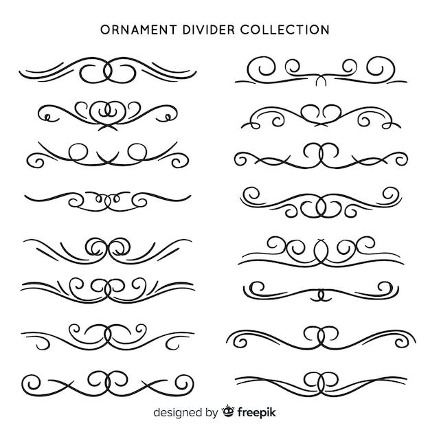 Klassieke set van vintage ornamenten Gratis Vector
