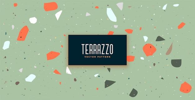 Klassieke terrazzo vloer patroon achtergrond met vintage kleuren Gratis Vector