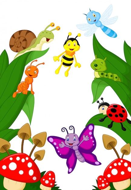 Kleine dieren cartoon Premium Vector