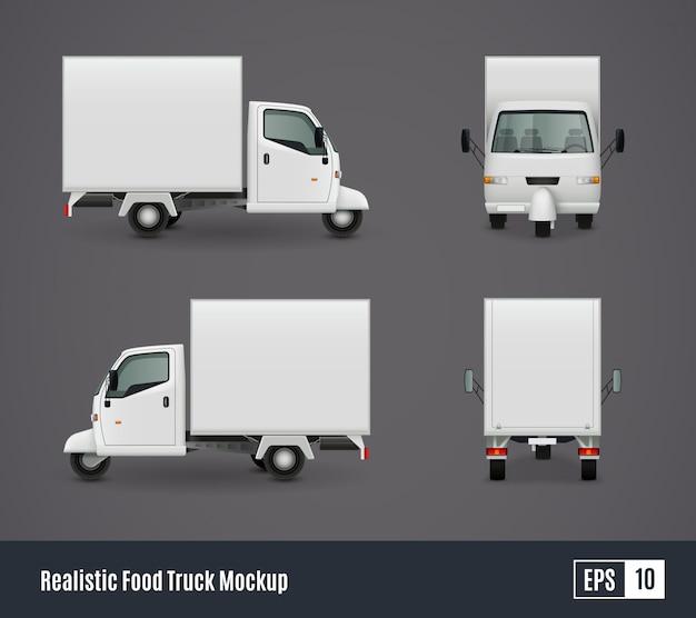 Kleine voedsel vrachtwagen sjabloon Gratis Vector