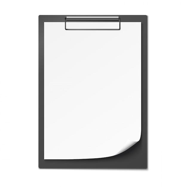 Klembord met blanco papier. Premium Vector