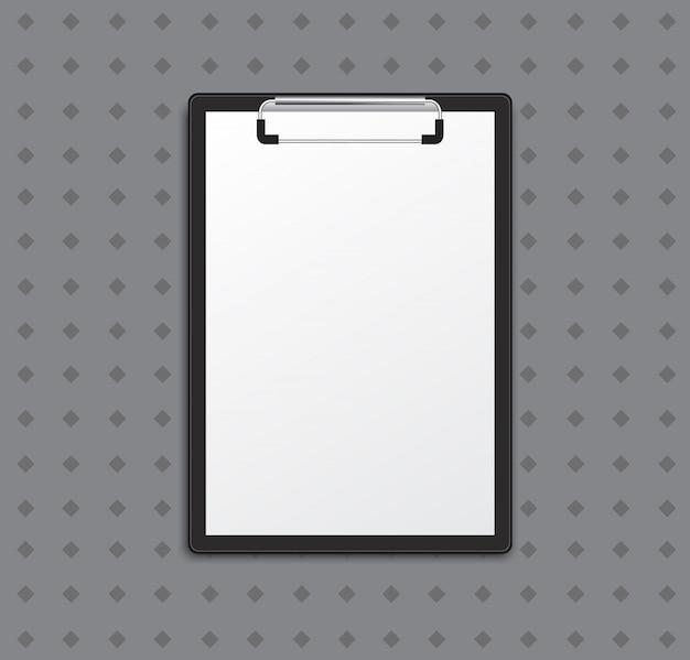 Klembord met witte lijst Premium Vector