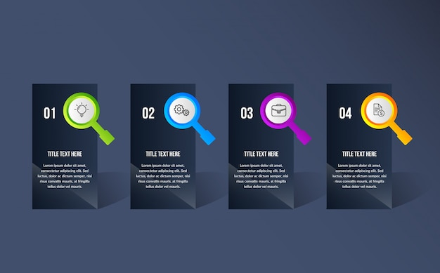 Kleur moderne infographic Premium Vector