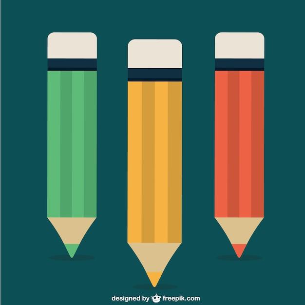 Kleur potloden Gratis Vector