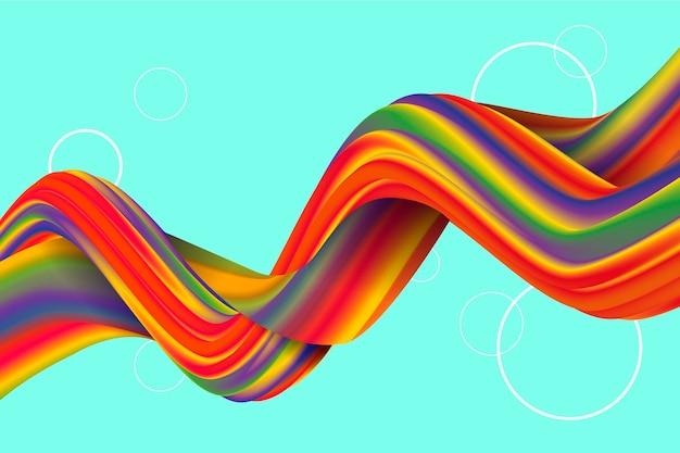 Kleur stroom behang Gratis Vector