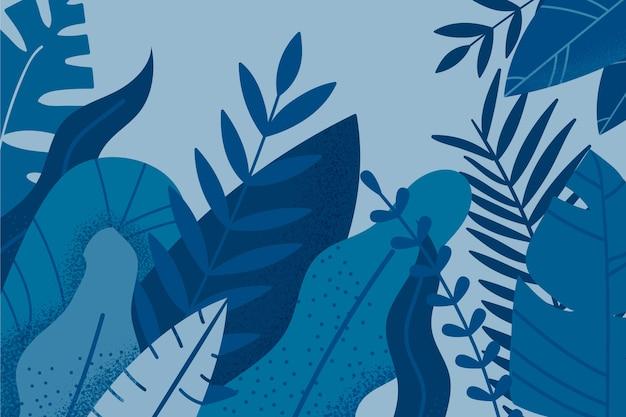 Kleur van het jaar 2020 palmbladen achtergrond Gratis Vector
