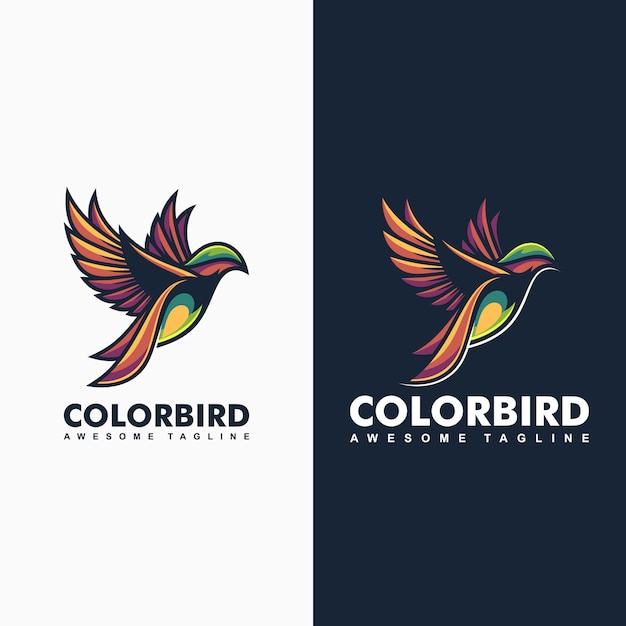Kleur-vogel concept illustratie Premium Vector