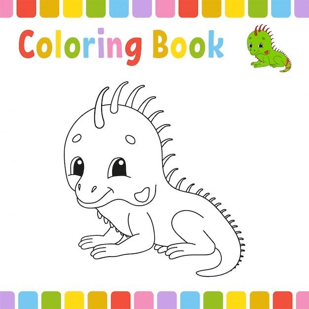 Kleurboekpagina's voor kinderen. Premium Vector