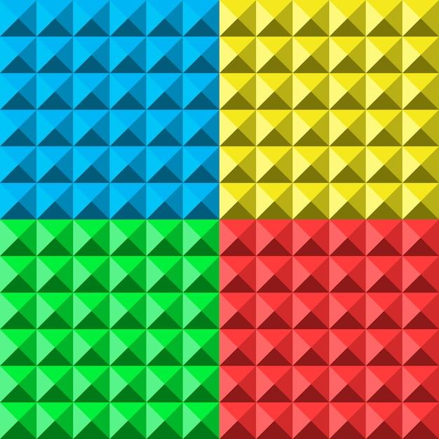 Kleuren piramide naadloos patroon Premium Vector