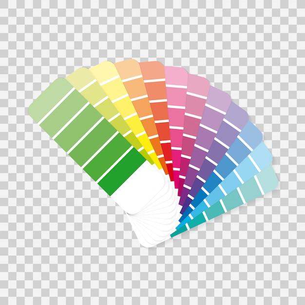 Kleurenpaletgids op grijze achtergrond. Premium Vector