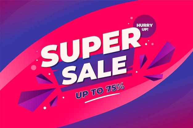 Kleurovergang blauw en violet super verkoop achtergrond Gratis Vector