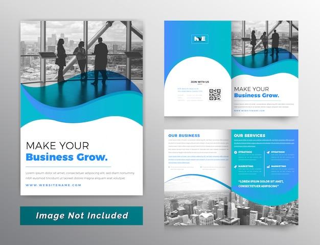Kleurovergang corporate brochure Premium Vector