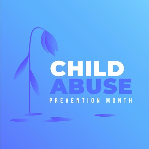 Kleurovergang nationale kindermishandeling preventie maand illustratie Gratis Vector