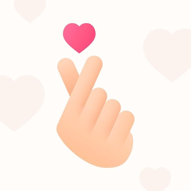 Kleurovergang vinger hart concept Gratis Vector