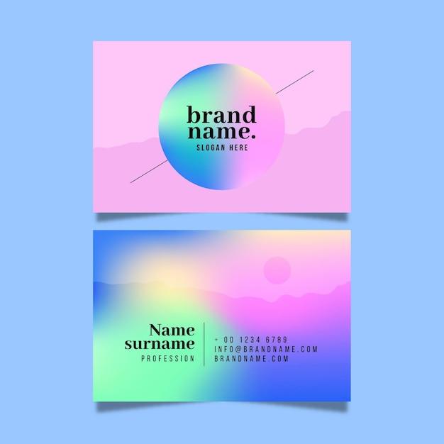 Kleurovergang visitekaartje concept Gratis Vector