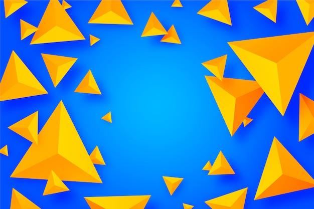 Kleurrijk 3d driehoekenconcept voor achtergrond Gratis Vector