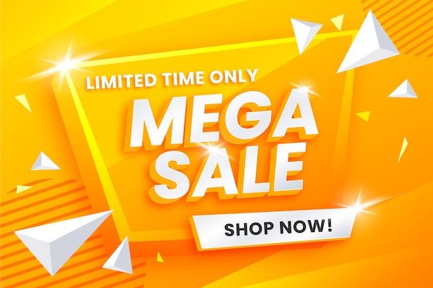 Kleurrijk 3d verkoopconcept als achtergrond Gratis Vector