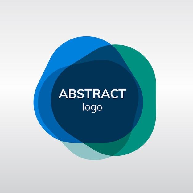 Kleurrijk abstract embleemontwerp van het kenteken Gratis Vector