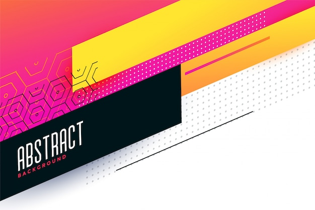Kleurrijk abstract geometrisch ontwerp als achtergrond Gratis Vector