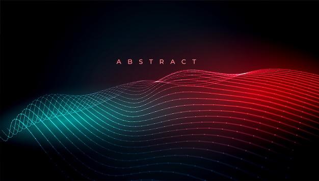 Kleurrijk abstract golvend lijnen achtergrondontwerpbehang Gratis Vector