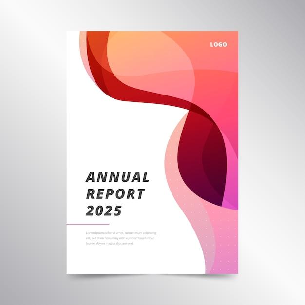 Kleurrijk abstract jaarverslagmalplaatje Gratis Vector
