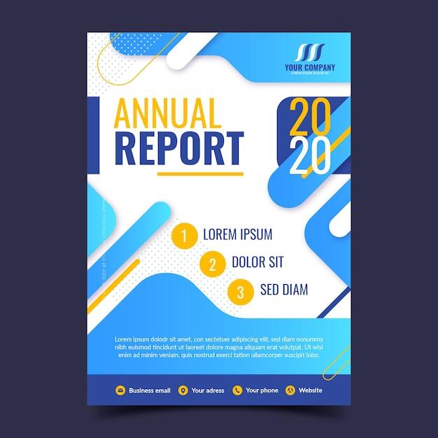 Kleurrijk abstract jaarverslagmalplaatje Premium Vector