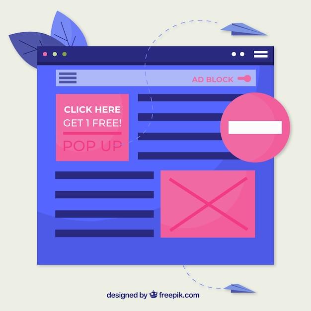 Kleurrijk advertentieblokconcept met vlak ontwerp Gratis Vector