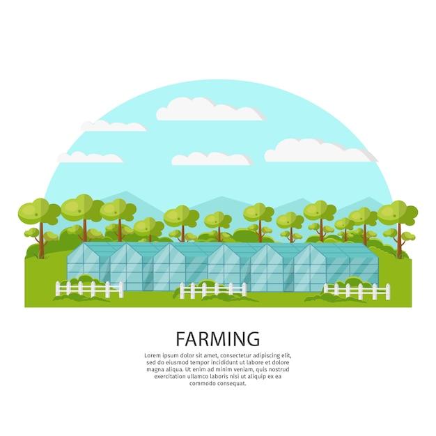 Kleurrijk agronomie en landbouwconcept Gratis Vector
