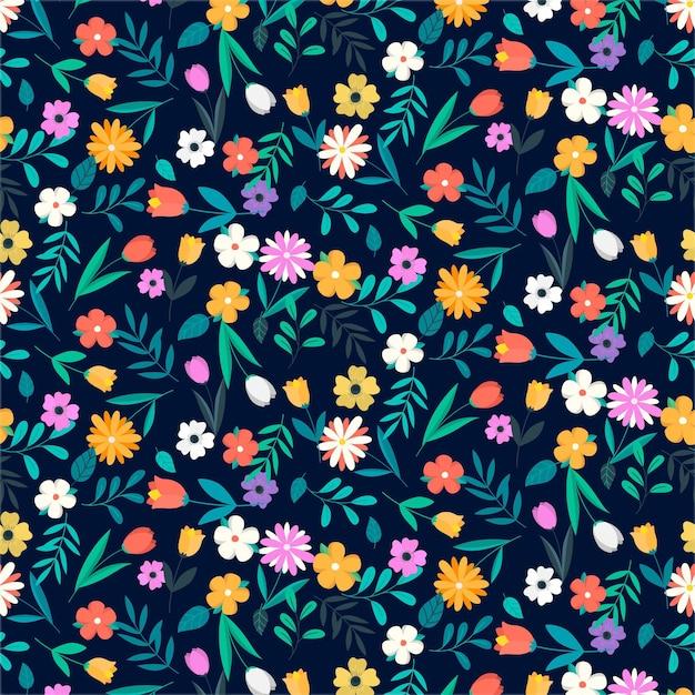 Kleurrijk bloemenpatroon Gratis Vector