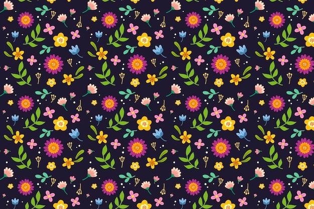 Kleurrijk ditsy bloemendrukconcept als achtergrond Gratis Vector