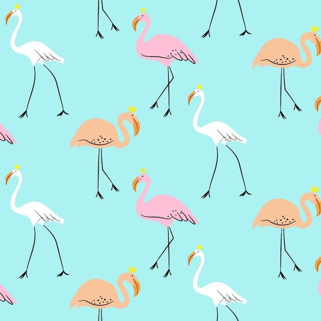 Kleurrijk flamingopatroon Gratis Vector