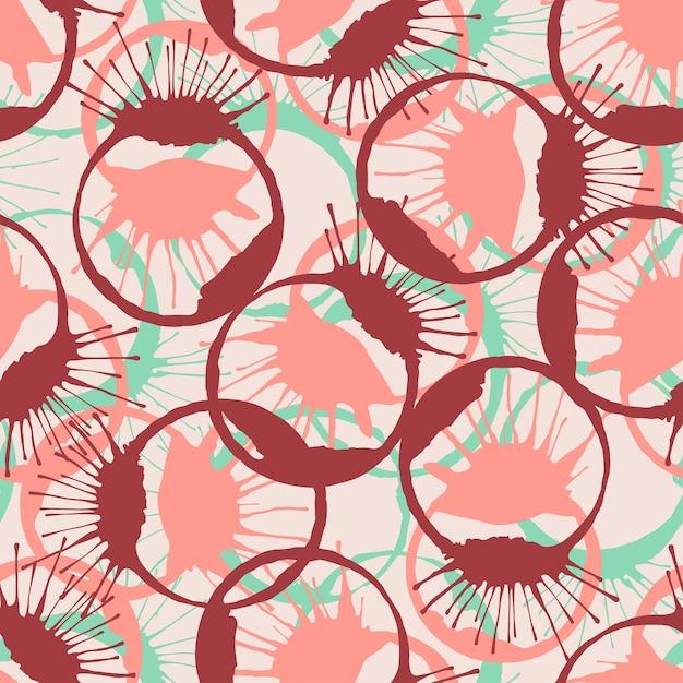 Kleurrijk geïnkt bespat naadloze textuur. vector mode patroon. Premium Vector