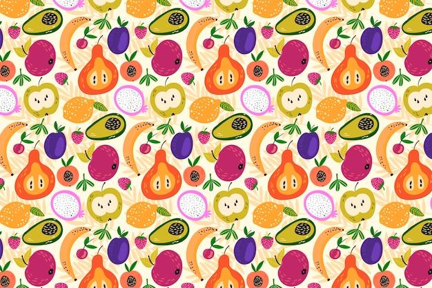 Kleurrijk heerlijk uitziend fruitig patroon Gratis Vector