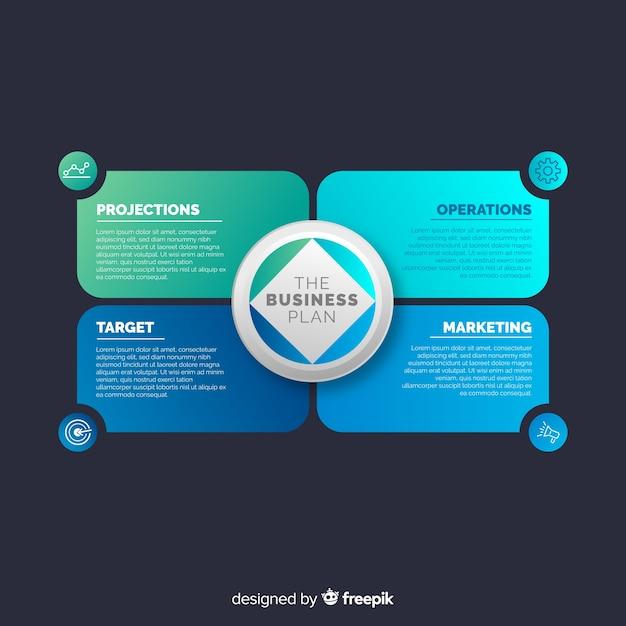 Kleurrijk infographic gradiënt vlak ontwerp Gratis Vector