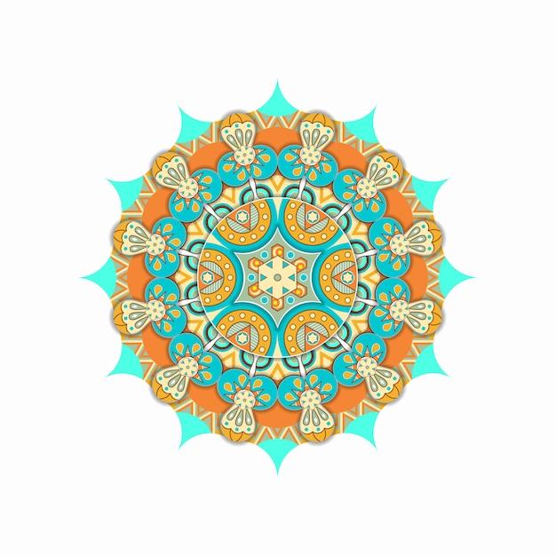 Kleurrijk mandala etnisch ornament Premium Vector