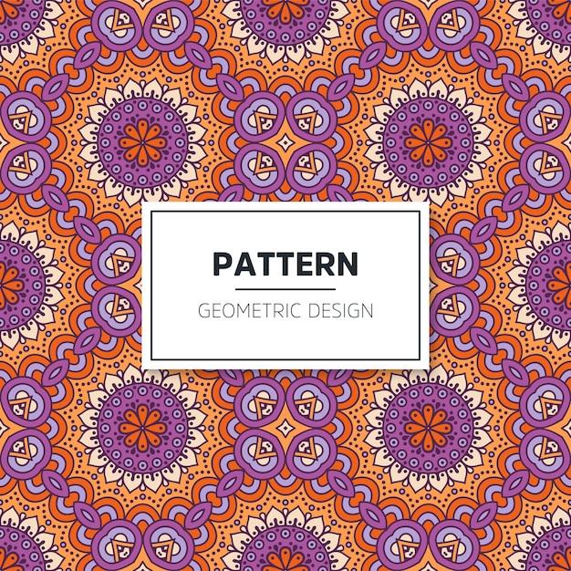 Kleurrijk mandala naadloos patroon Premium Vector