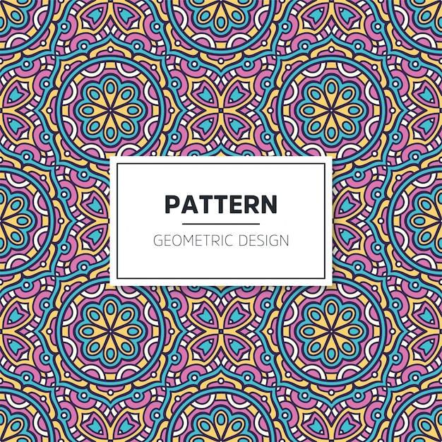 Kleurrijk mandala naadloos patroon Gratis Vector